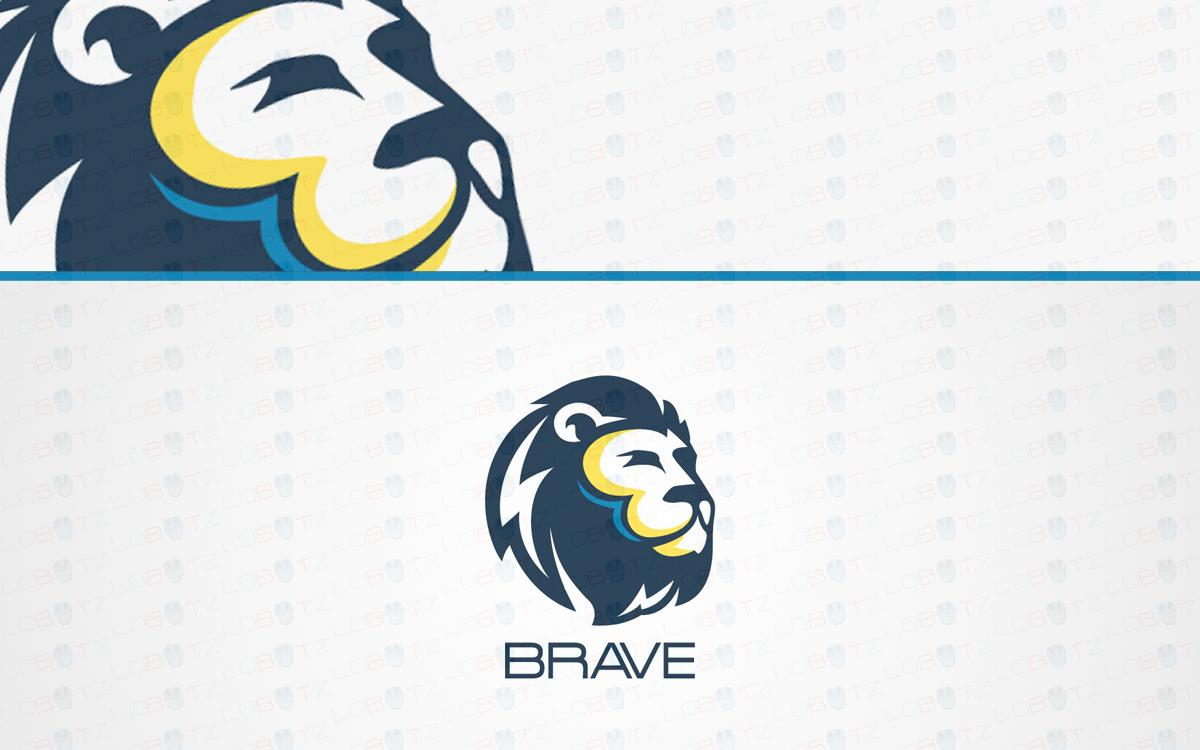 premade lion head logo