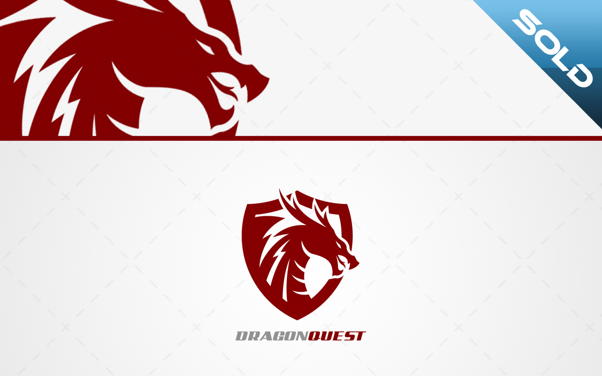 Dragon Crest Logo For Sale