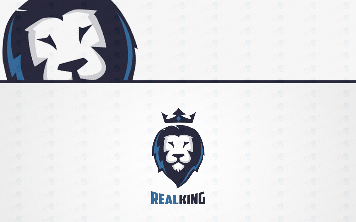 Crown Lion Head Logo For Sale