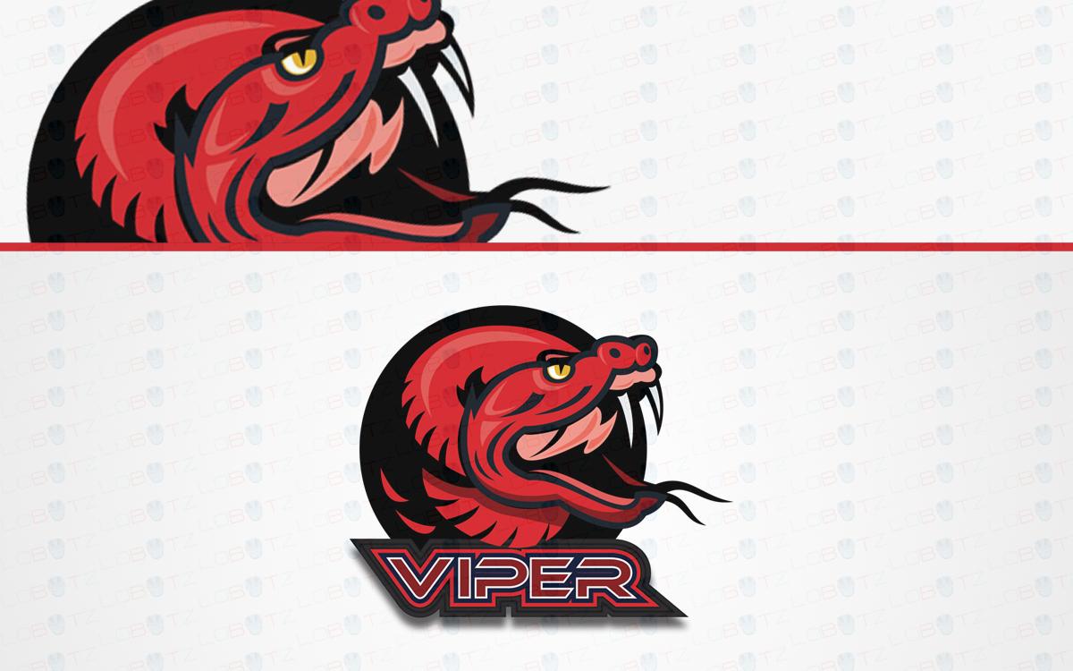 premade viper mascot logo for sale