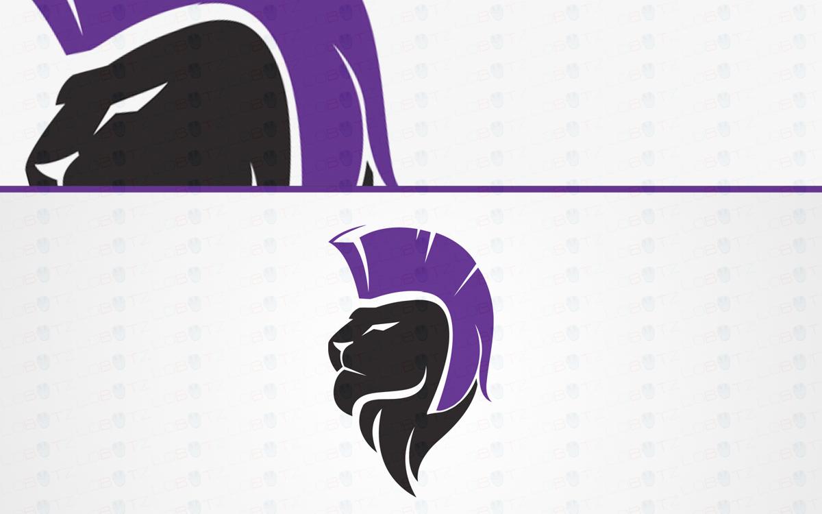 Gladiator Lion Head Logo For Sale