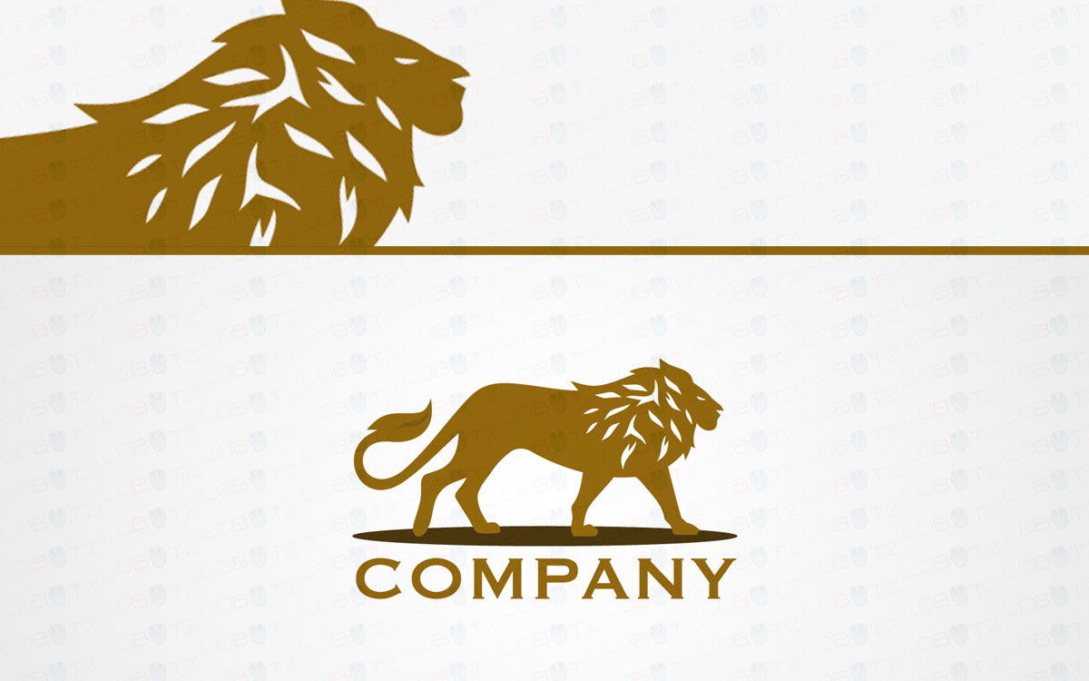 Strong Lion Logo For Sale