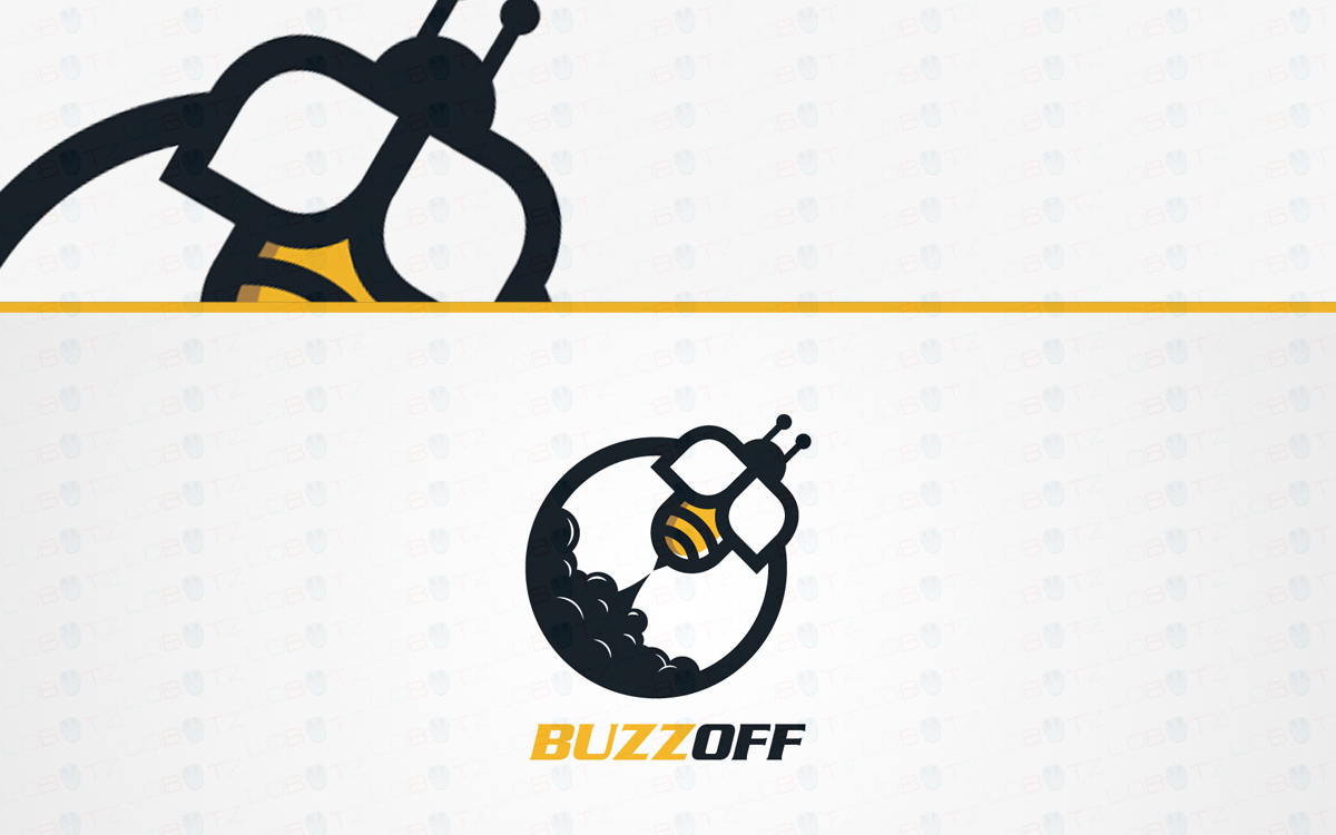 rocket bee logo for sale