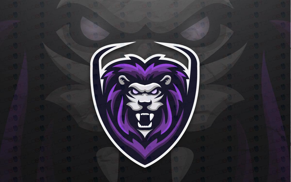 Gaming Logo | Lion Mascot Logo For Sale