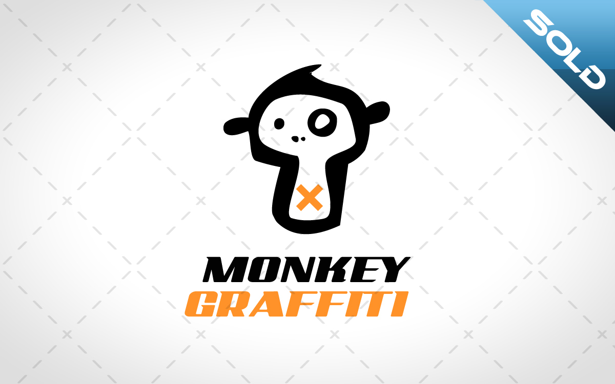 Monkey Graffiti Logo For Sale