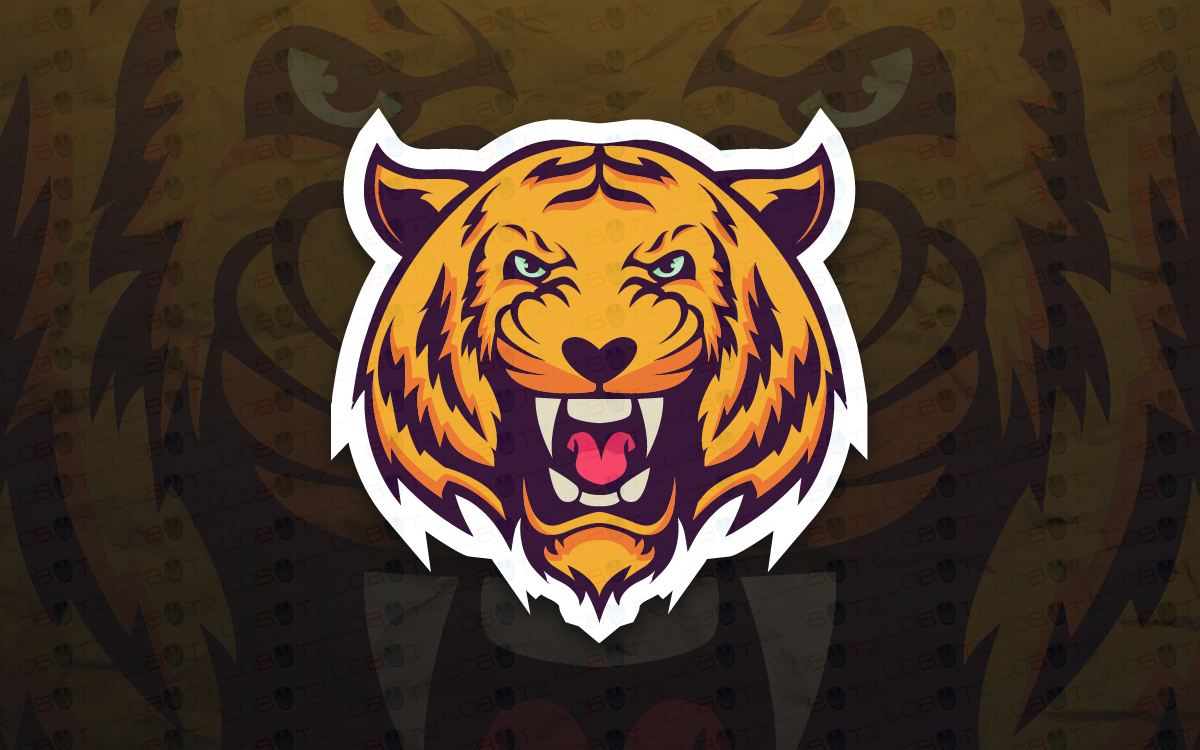 Tiger Mascot Logo For Sale