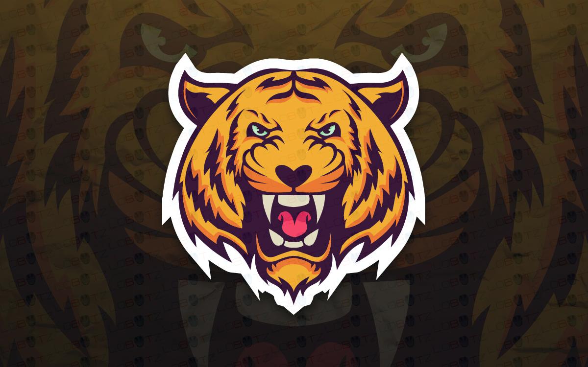 Tiger Mascot Logo For Sale