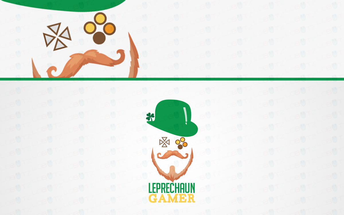 leprechaun gaming logo for sale