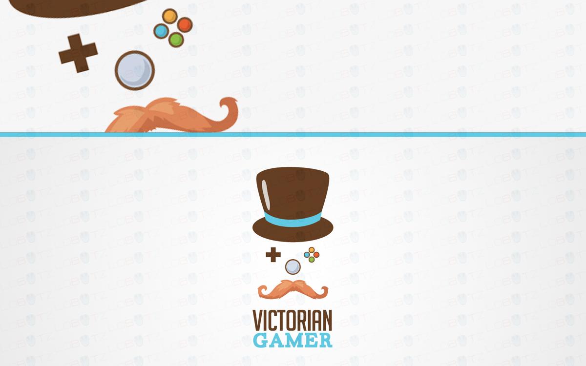Victorian gamer geek logo for sale