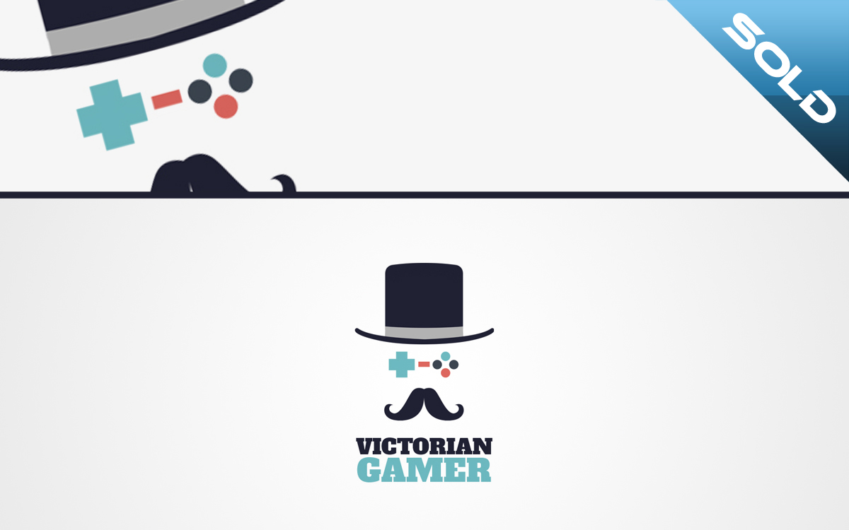 Victorian Gamer Geek Logo For Sale