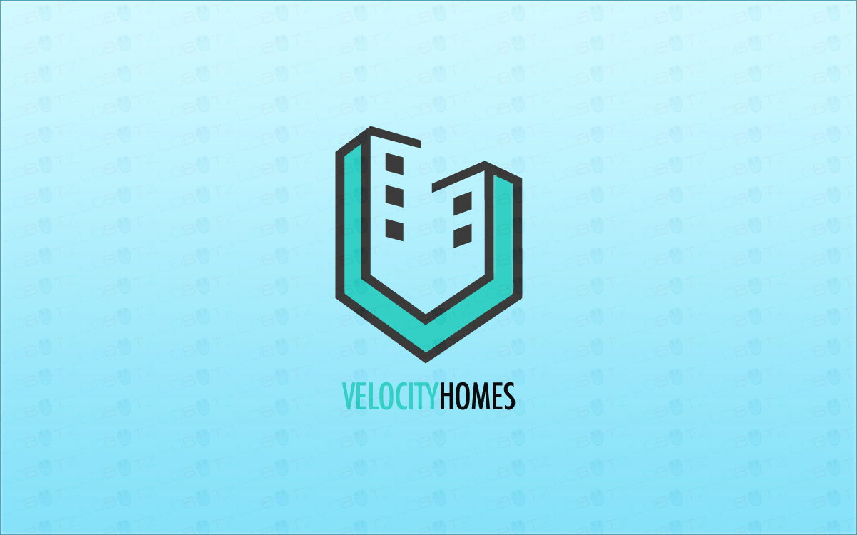 Modern real estate logo house logo for sale lobotz for Modern house logo
