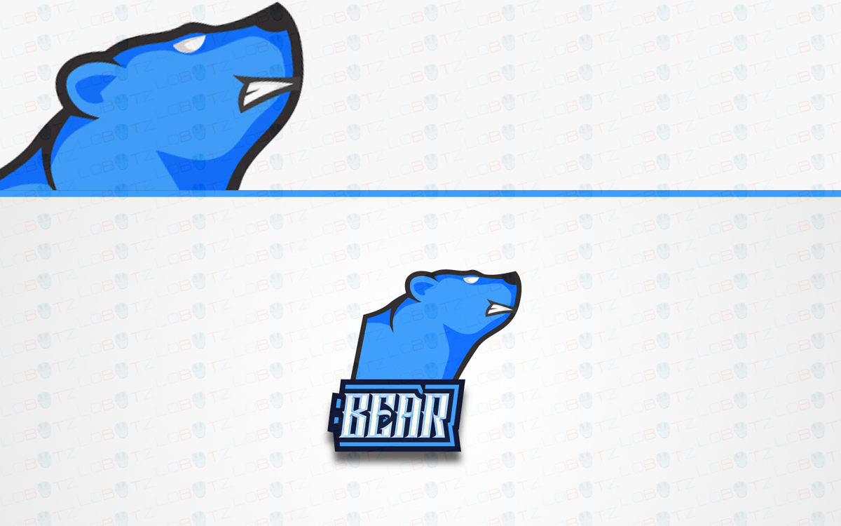 bear mascot logo for sale