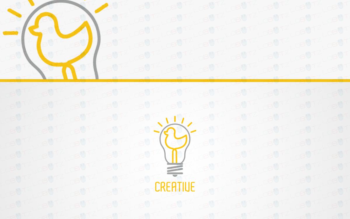 duck light bulb logo for sale