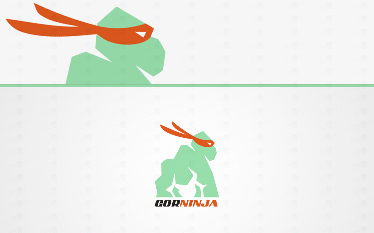 gorilla ninja logo for sale