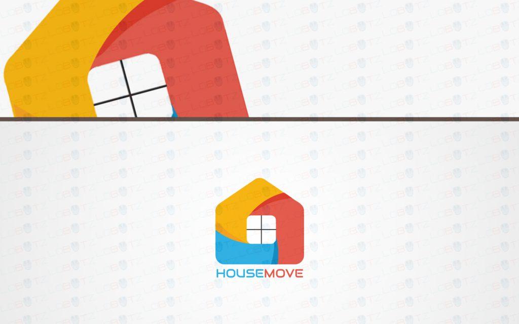 Trendy modern house logo for sale property logo lobotz for Modern house logo
