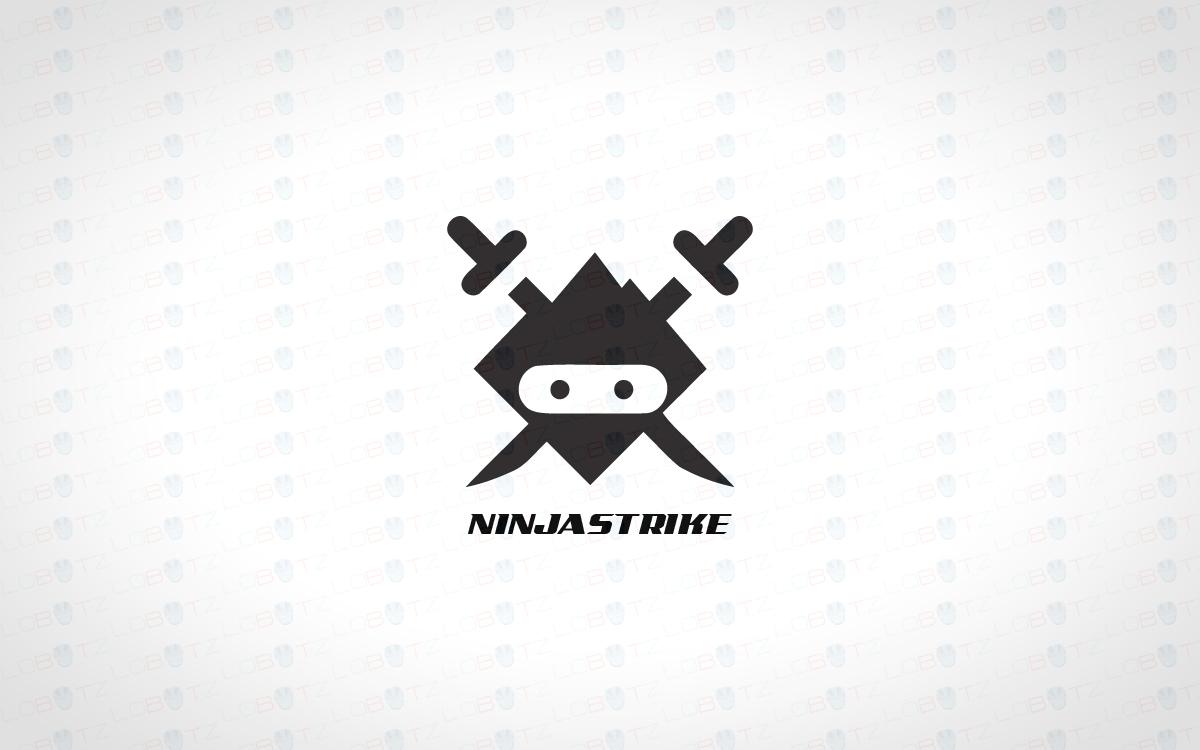 modern trendy simple ninja logo for sale lobotz rh lobotz com ninja logo game ninja logistics kuna idaho