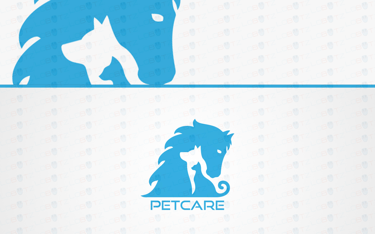 pet care logo for sale
