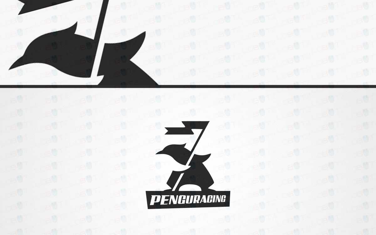 racing penguin logo for sale