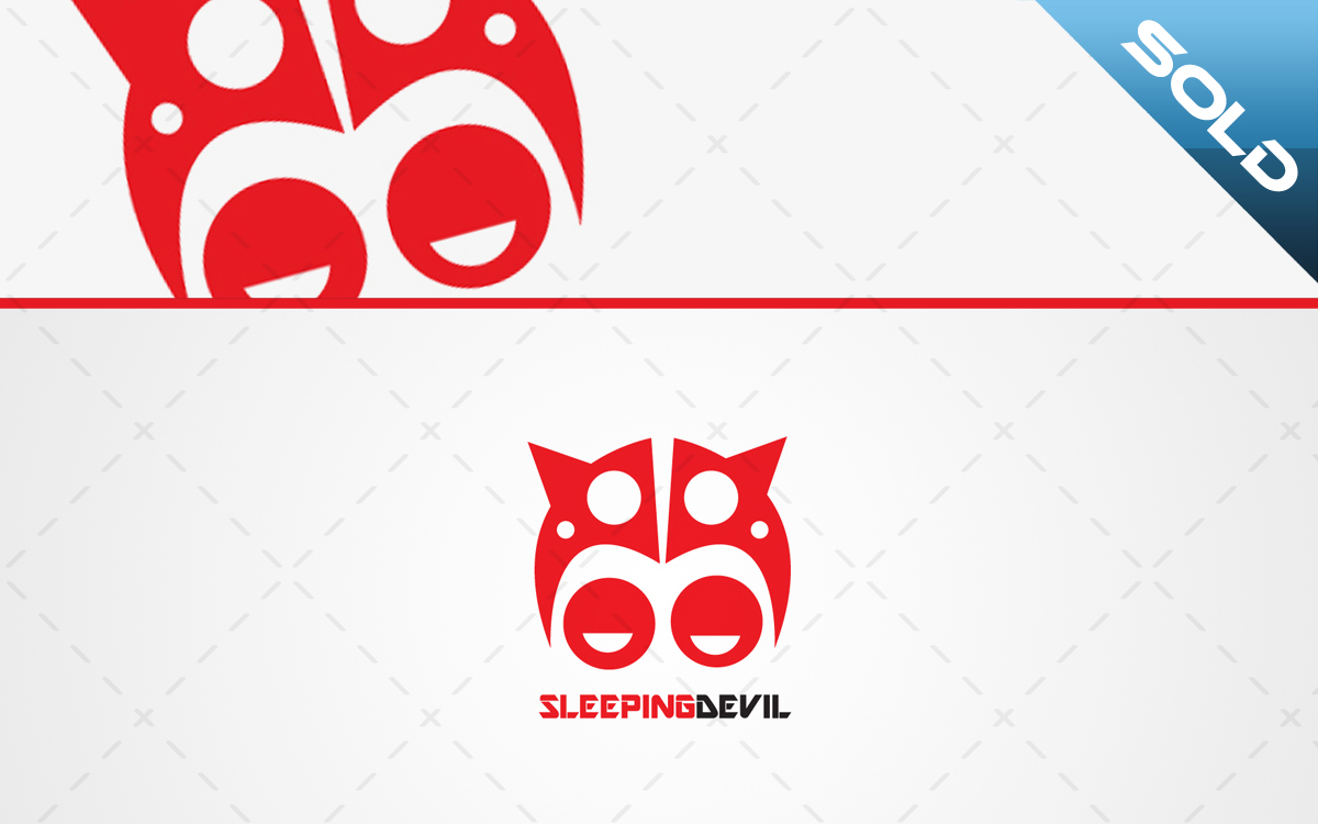 sleeping devil logo for sale