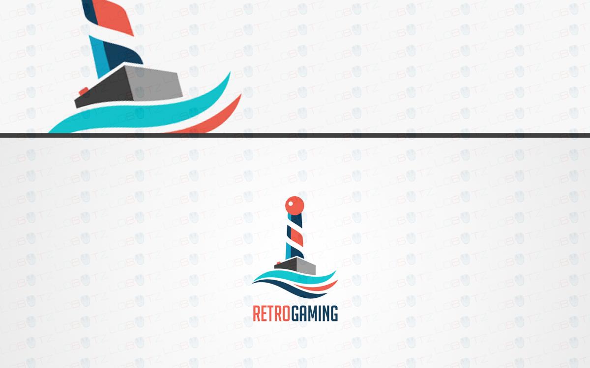 retro gaming controller logo