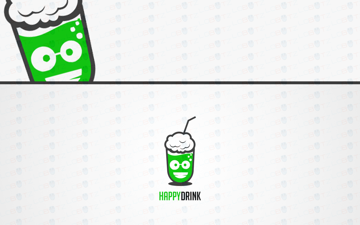 happy drink logo for sale
