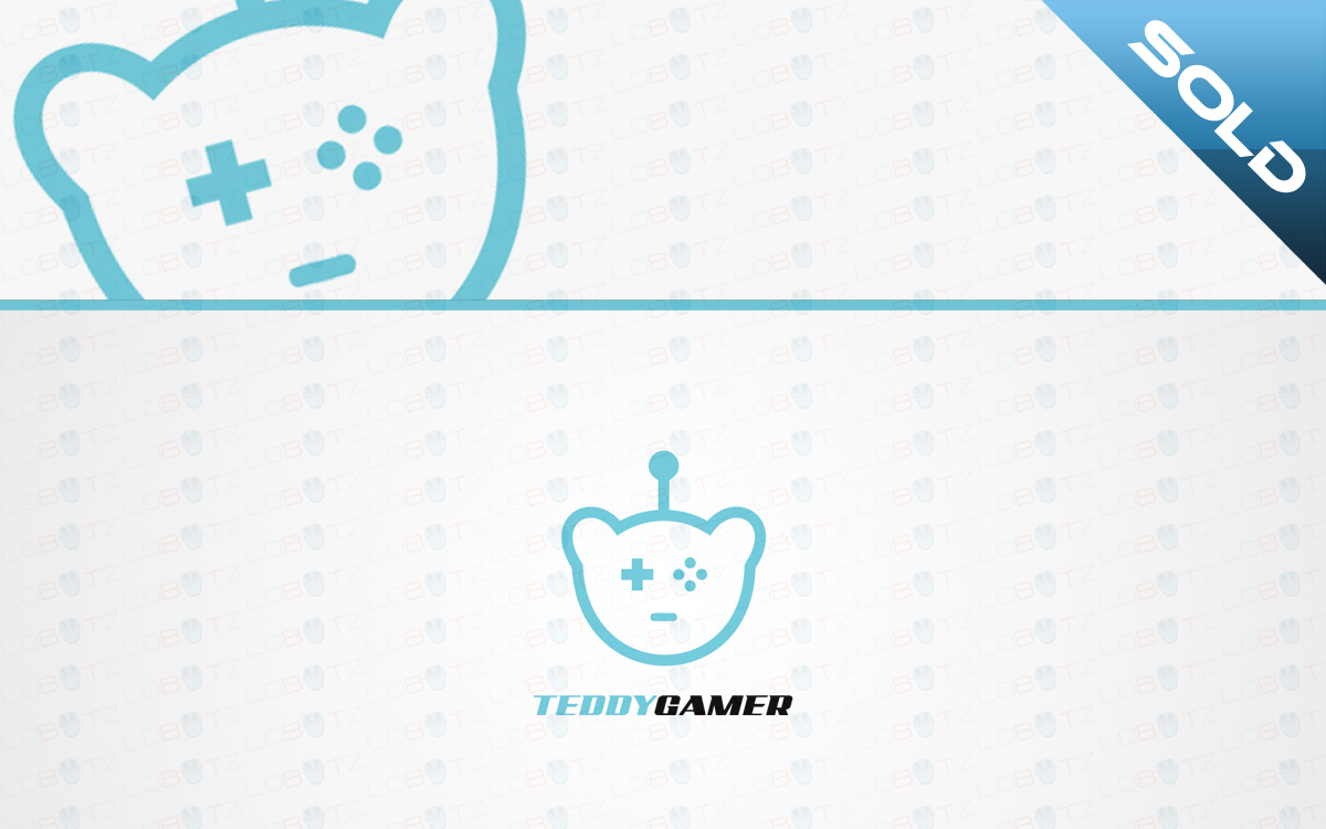 teddy bear gaming logo for sale