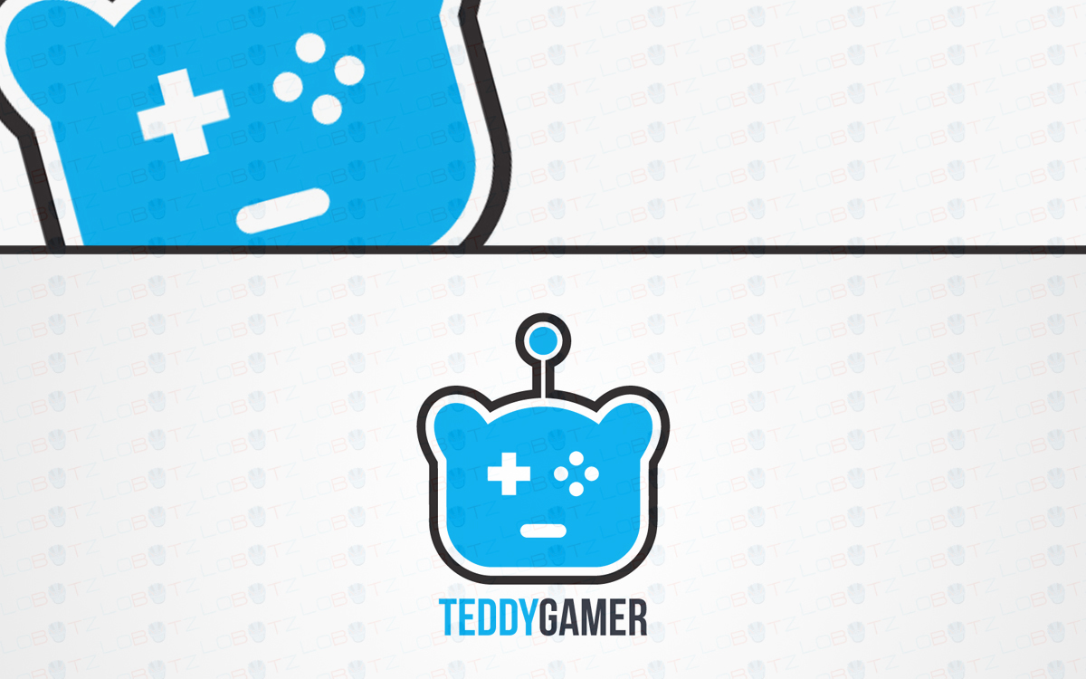 teddy bear gaming logo for sale
