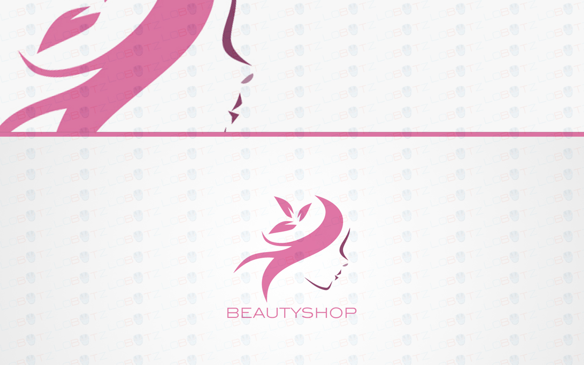 Beautiful Woman Face Beauty Logo For Sale Lobotz