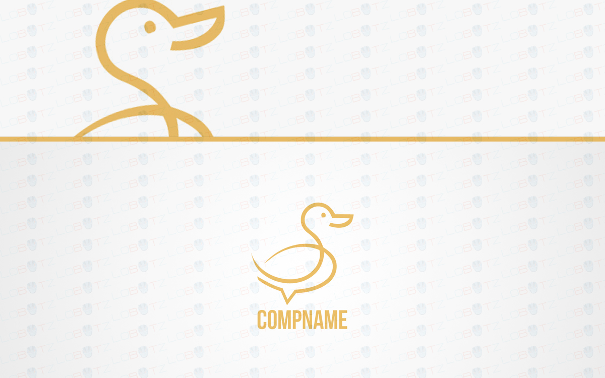 duck logo logo for sale