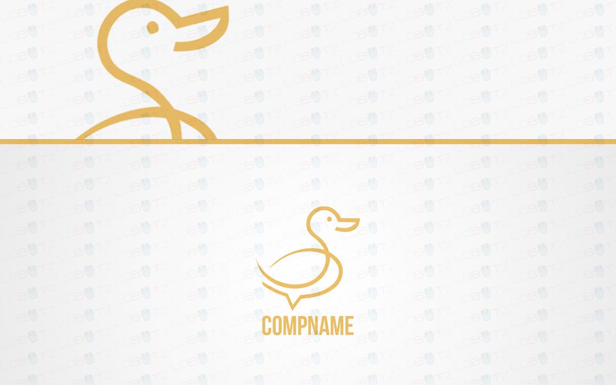duck logo logo for sale
