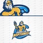 Neptune Mascot Logo Neptune ESports Logo For Sale