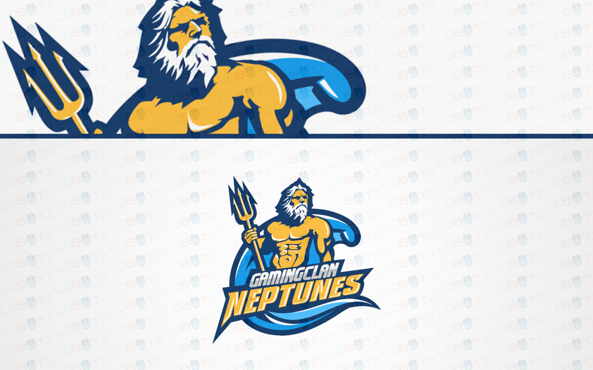 neptune mascot logo for sale