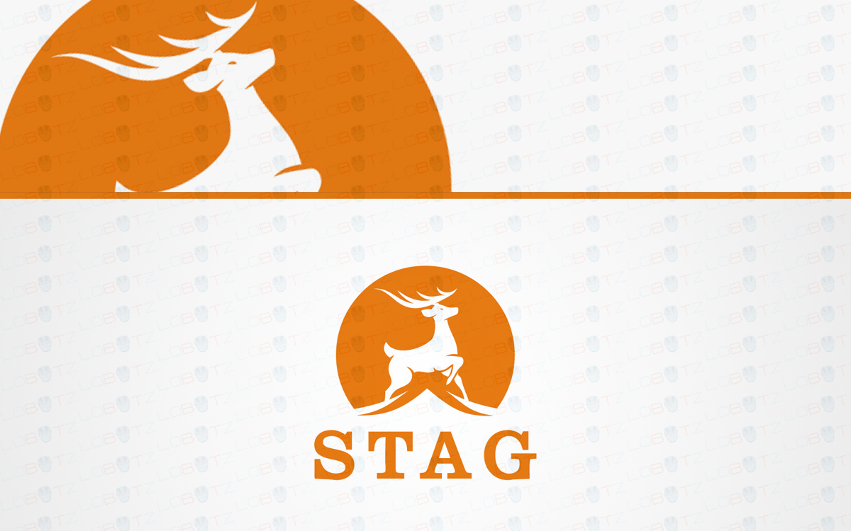 stag logo for sale