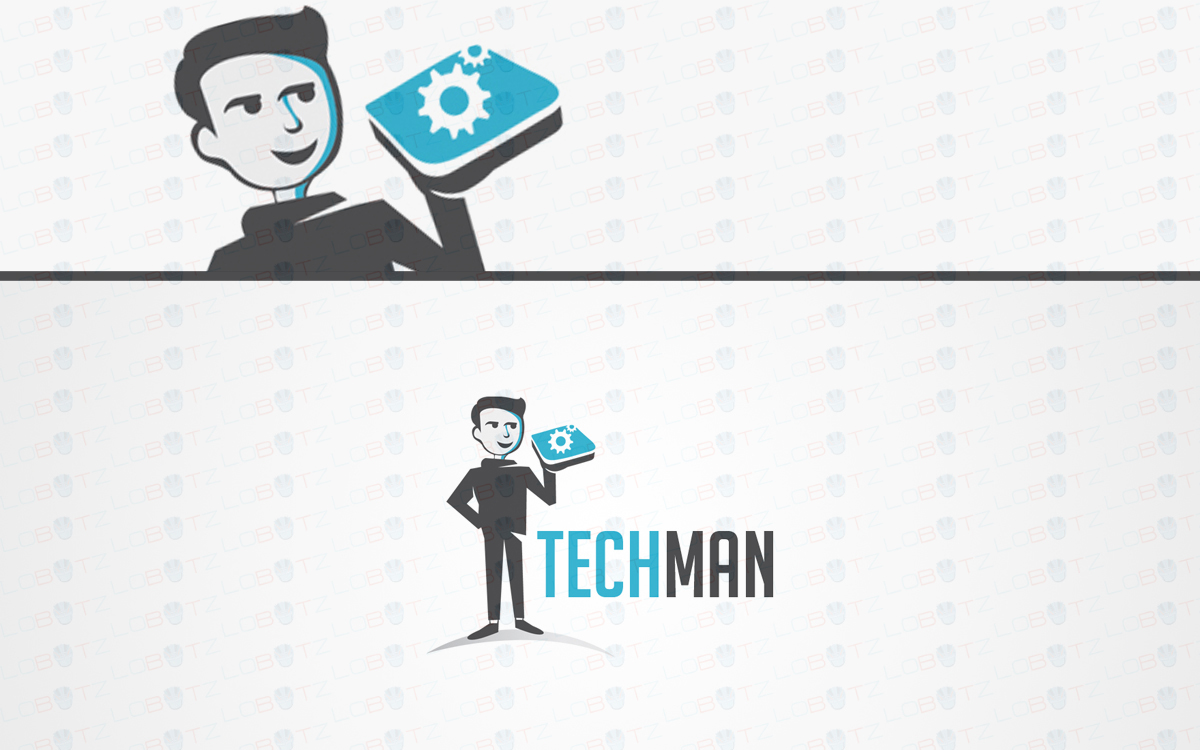 man character logo for sale