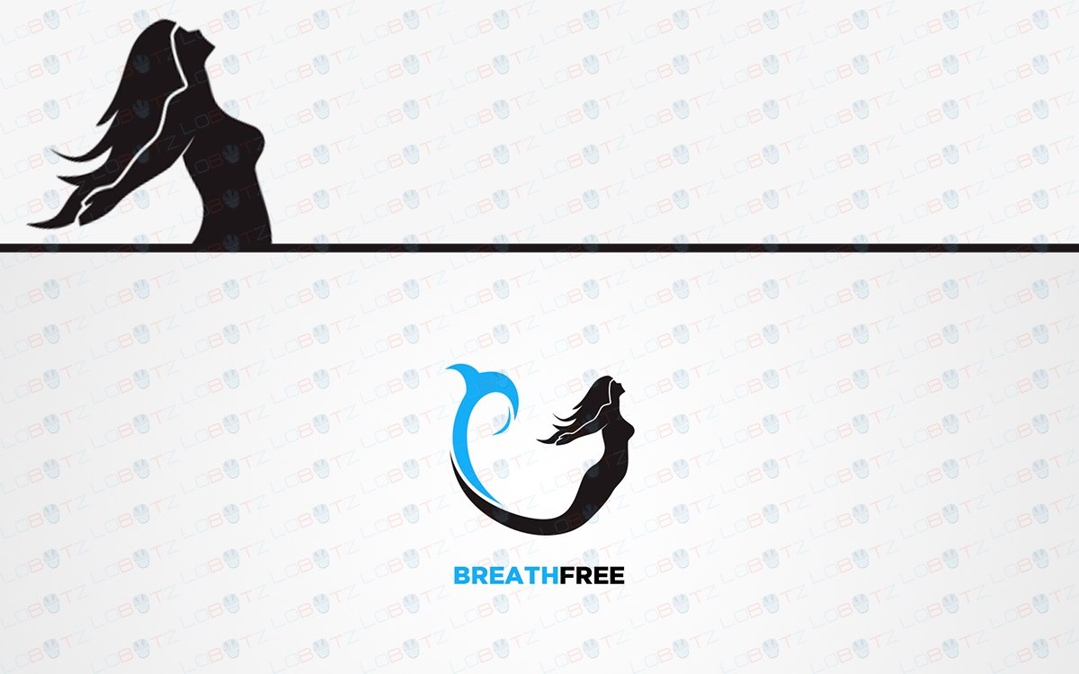 ocean mermaid logo for sale