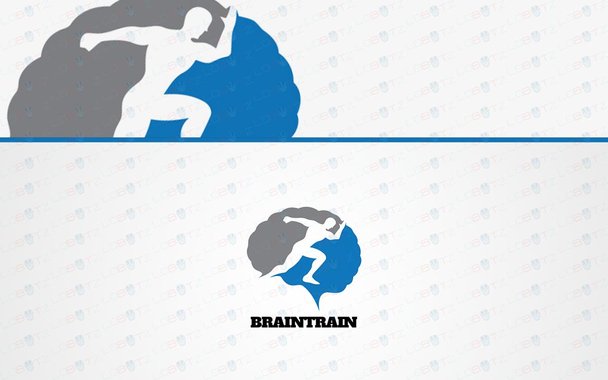 fitness brain logo for sale