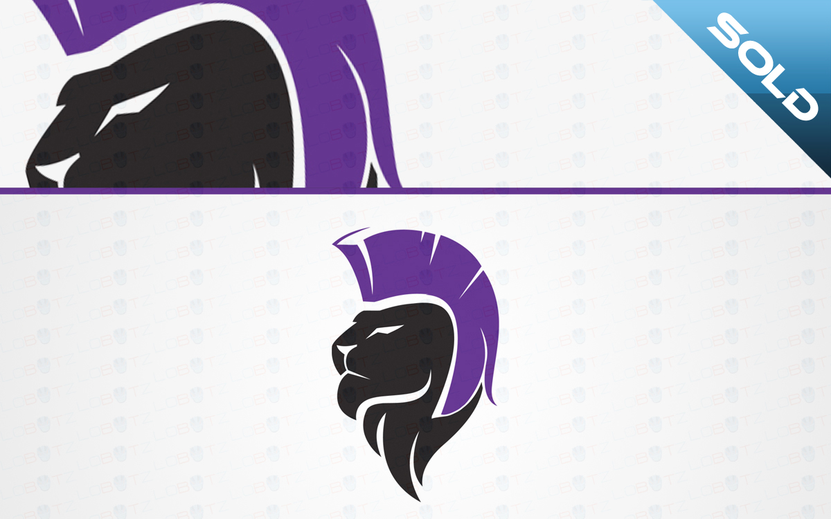 Gladiator Lion Head Logo For Sale