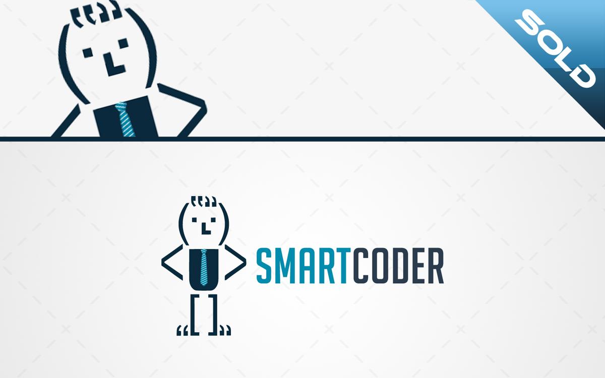 Smart Coder Logo For Sale