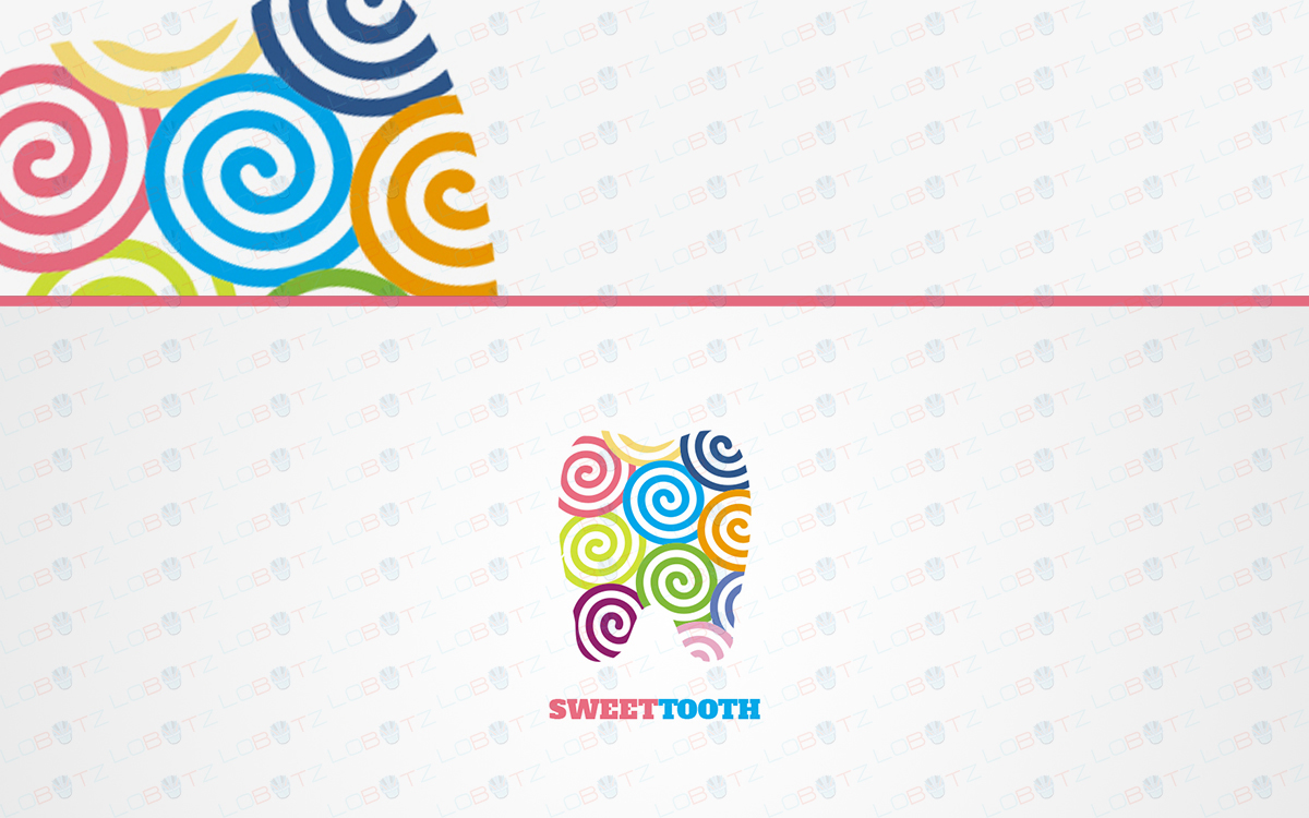 sweet tooth dentist logo for sale