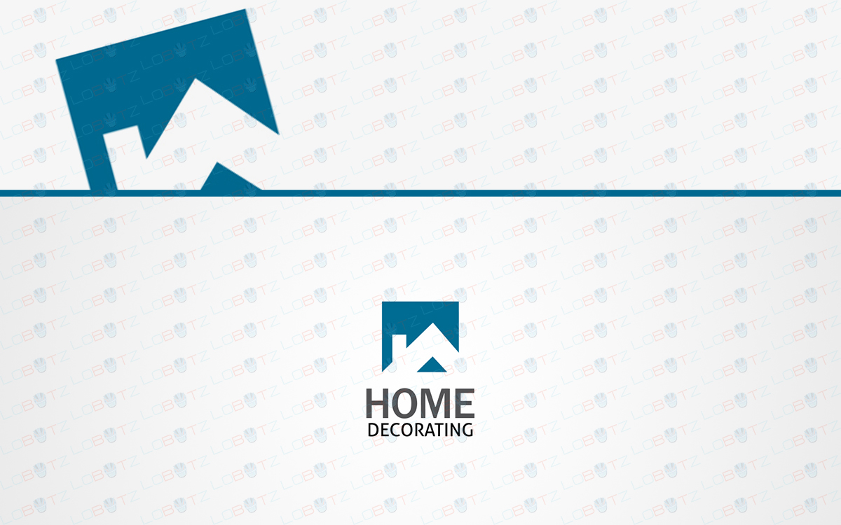 Trendy modern home logo to buy online house logo lobotz for Find a house online