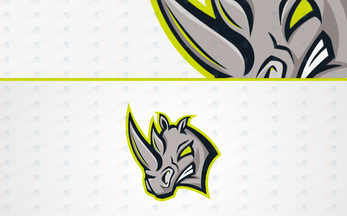 rhino mascot logo for sale