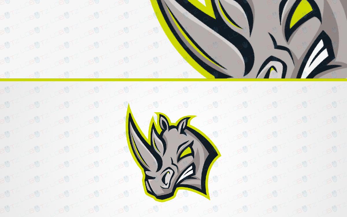 rhino mascot logo for sale