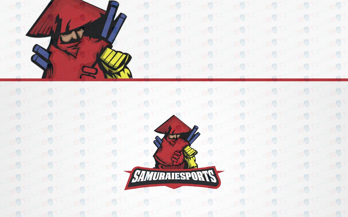samurai esports logo samurai mascot logo