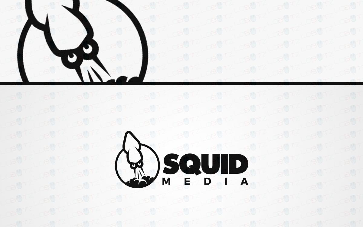 squid logo modern unique squid logo for sale lobotz squid logo for sale
