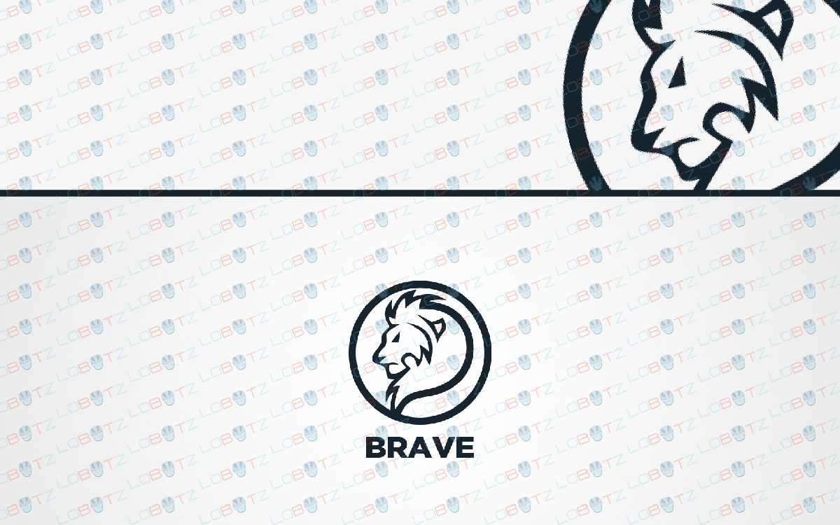 lion head logo for sale