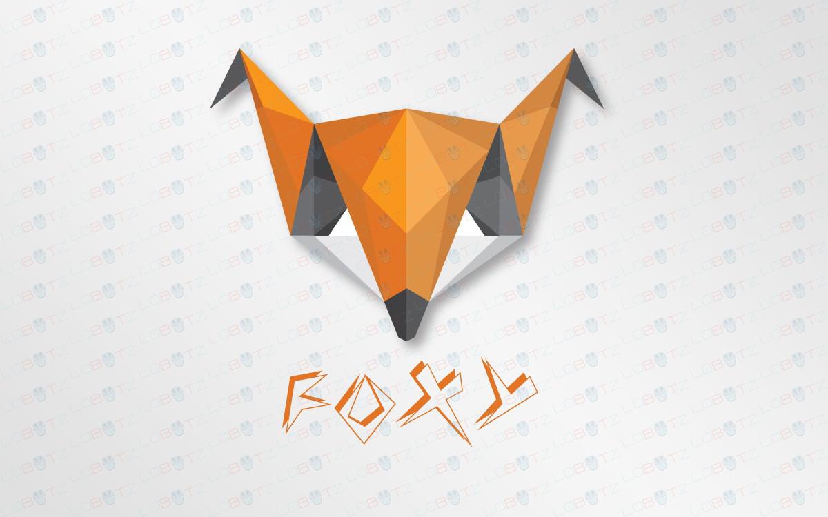 Polygon Fox Logo Origami fox logo