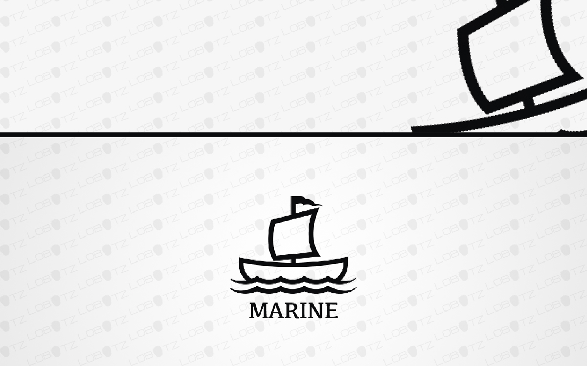 marine boat logo for sale