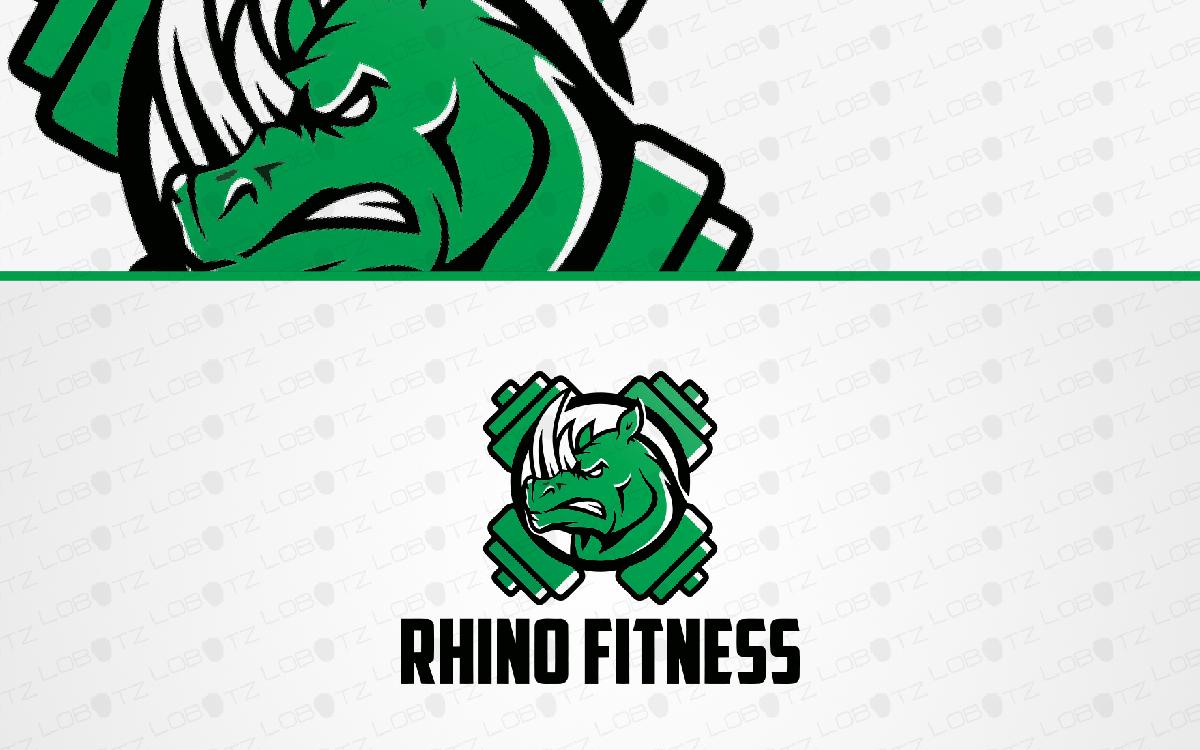 rhino fitness logo for sale
