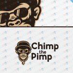 Chimp The Pimp Custom Logo – Custom Chimpanzee Logo Design