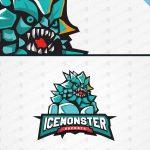 Ice Monster ESports Logo | Team Mascot Logo For Sale